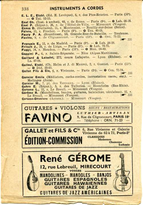 Annuaire OGM 1956.