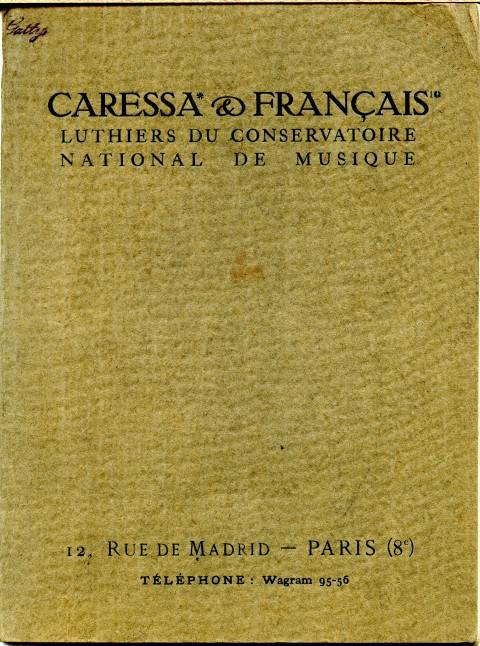 Catalogue et tarif Caressa & Français à Paris.