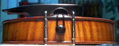 Position of a chin rest of violin.